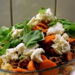 pastagratin med frisk mozzarella og masser af basilikum