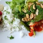 Spicy asiatisk kyllingesalat