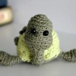 En hæklet skildpadde