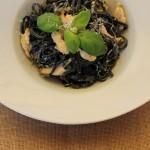 Verdens bedste pastaret: pasta i hvidvinssauce med frisk basilikum