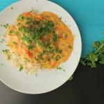 Lynlækker torsk med porre og tomat