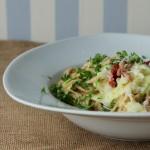 Spaghetti a la Carbonara med spidskål