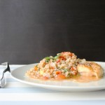 Perleotto med frisk tomat og basilikum