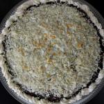 Lagkage med appelsincreme, skildpaddemousse og marcipan